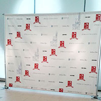 Custom Printed Backdrop Display