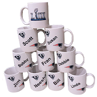 Sublimated mugs